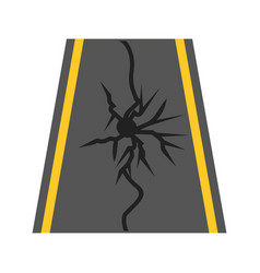 Earthquake on road vector