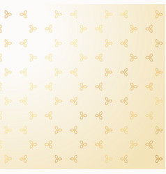 cute golden small flowers decoration pattern vector image