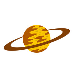 saturn icon isolated vector image