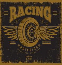 Vintage moto club poster vector