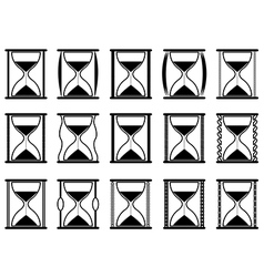 Hourglasses vector image