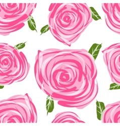 Seamless pattern with roses for your design vector