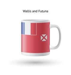 Wallis and futuna flag souvenir mug on white vector