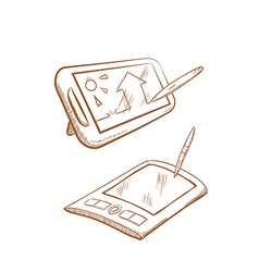Paint tablets vector image