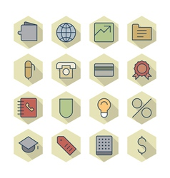 Thin Line Icons For Business and Finance vector image