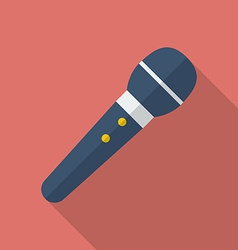 Microphone icon modern flat style with a long vector