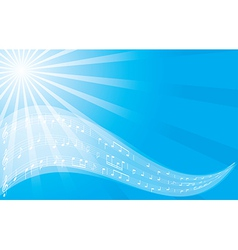 Music background - blue flyer vector