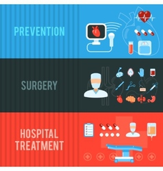Surgery concept horizontal banners set vector