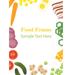 Food frame vector