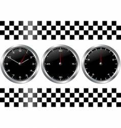 watches and chronographs vector image