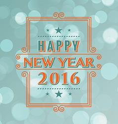 Happy new year typographic design white background vector