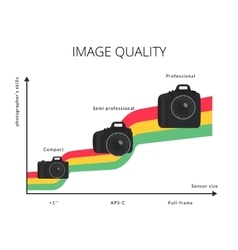 Infographic of image quality graph vector