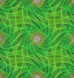 Green seamless fractal swirling veil pattern vector