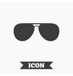 Aviator sunglasses sign icon Pilot glasses vector image