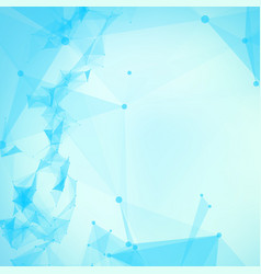 Abstract blue mesh background vector