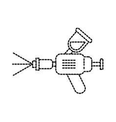 Airbrush car spray paint equipment symbol vector