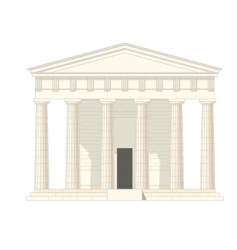 antiquities greek temple vector image vector image
