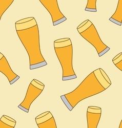 Beer mug pattern vector image vector image