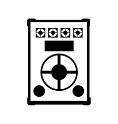big speaker sound isolated icon vector image
