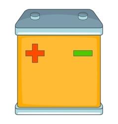 Car battery icon cartoon style vector