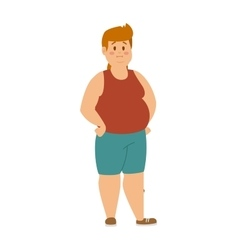 Cartoon character of fat boy vector image
