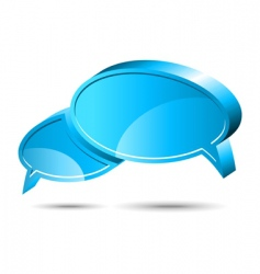 chat box blue vector image vector image