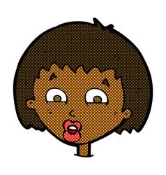 Comic cartoon shocked expression vector