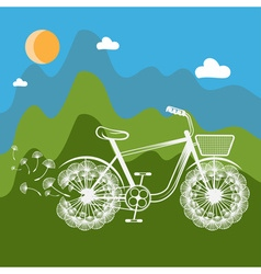 Concept bike with dandelion vector