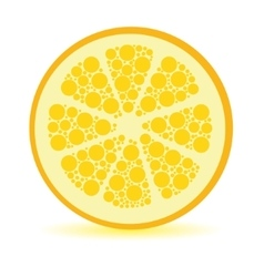 dots lemon vector image