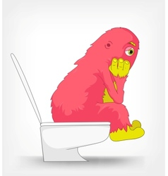 Funny Monster WC vector image vector image