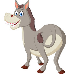 happy donkey cartoon vector image vector image