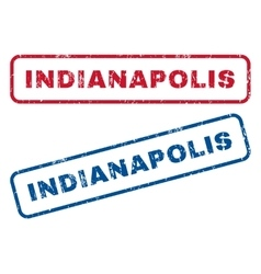 Indianapolis rubber stamps vector