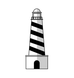 lighthouse tower icon vector image
