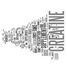 liquid creatine one form of creatine you can take vector image vector image