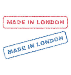 Made in london textile stamps vector