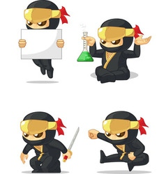 Ninja Customizable Mascot 7 vector image