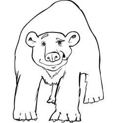 polar bear coloring page vector image vector image