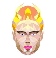 polygonal portrait of a man king vector image vector image