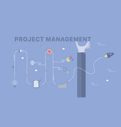 project management background vector image