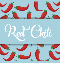 Red chili vegetable icon vector