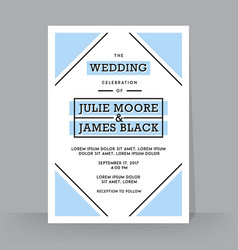 retro wedding invitation template tradition vector image vector image