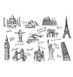 Travel icon sketch vector