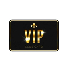 VIP card template isolated on white background vector image