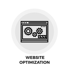 Website Optimization Line Icon vector image vector image