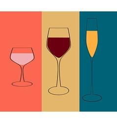 Wine menu design vector image vector image