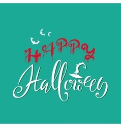 Happy halloween text words are written in blood vector