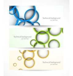 Set of banners with circles vector image