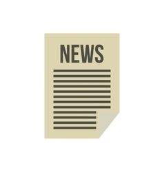 Newspaper icon in flat style vector