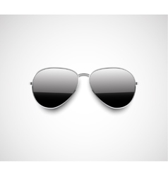 Glossy black aviator sunglasses design vector image