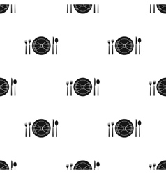 Restaurant table blackting icon in black style vector image
